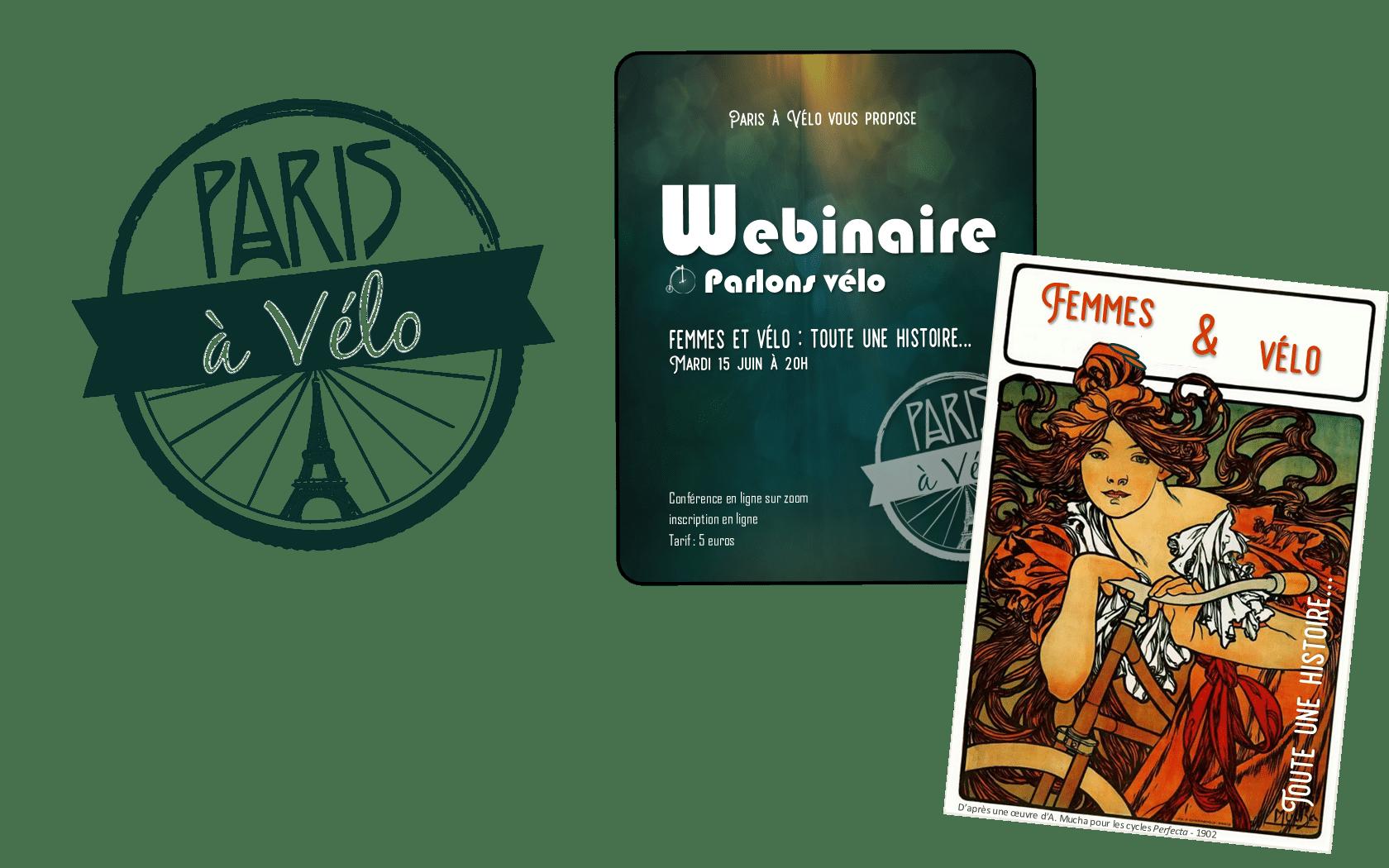 """Visuel Webinaire """"Femmes et vélo : toute une histoire"""""""